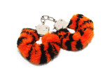 Isolated Furry Handcuffs