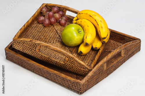 rotang tray with fruits