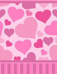 Repeated pattern with hearts