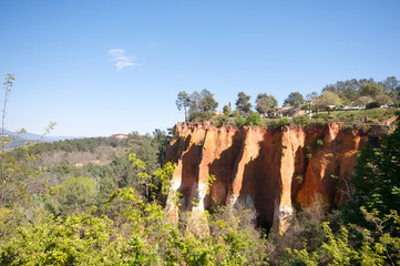 Ochre Cliff in Roussillon France