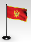Montenegro Flagge mit clipping path poster