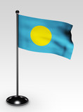 Palau Flagge mit clipping path poster