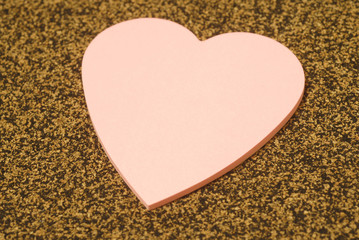heart shape memo paper