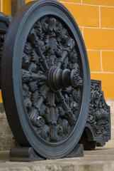 Art casting historical gun wheel, Red square, Moscow