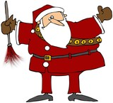 Santa With A Feather Duster poster