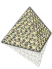 pyramid of dollars