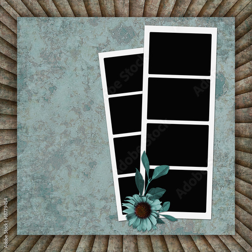Vintage background with frames and flower