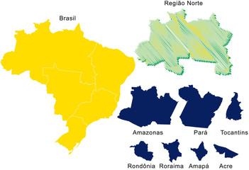 Brasil, Região Norte, Estados