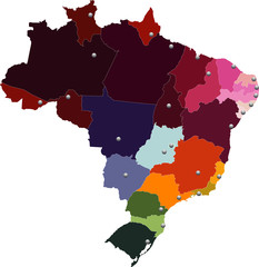 Brasil, estados e capitais