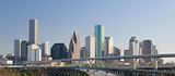 Intersection of Interstate I-10 and I-45 with the Houston skylin - Fine Art prints