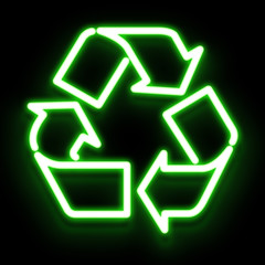 Luminous Recyclable Symbol
