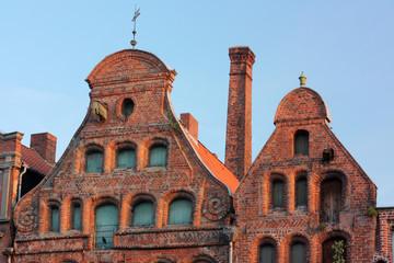 Giebel mittelalterlicher Häuser Lüneburg