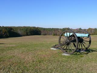 Cannon in Battle Field