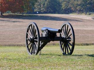 War Gun in Battle Field
