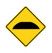 road sign - speed bump
