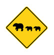 road sign - bears crossing