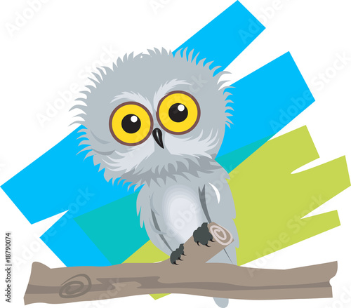 Illustration of of a baby bird sitting