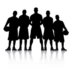 Basketball Team Silhouette