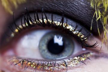 Close-up of a womana eye