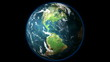 HD 1080 - Planet Earth rotates on Black Background (Loopable)