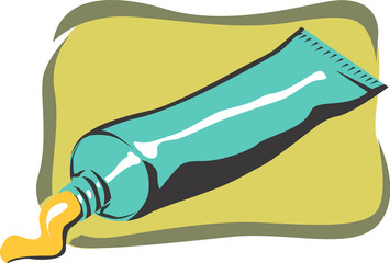 Illustration of a antiseptic crème in a tube