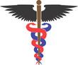 Illustration of a medical emblem
