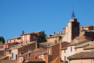 View of Roussillon Village in the Luberon, Provence