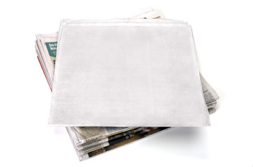 blank newspaper (clipping path included)