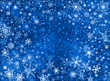 Blue Snow Storm Background