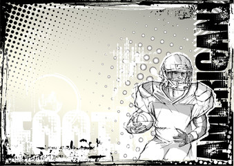 american football pencil grungy background