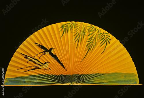 Leinwanddruck Bild Kranichfächer gelb