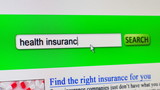 Health insurance - fictional search engine poster