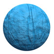 3d blue rock sphere isolated on white