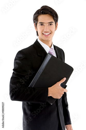 Business man with a portfolio