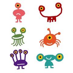 iconos de extraterrestres graciosos