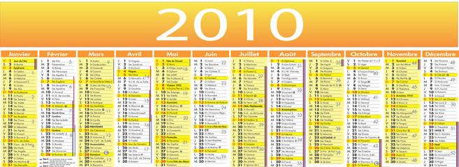 Calendrier vecteur 2010