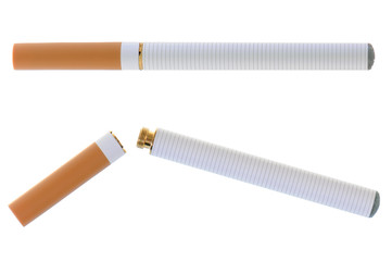 Electronic cigarette isolated on white background
