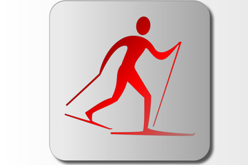 Elegant ski symbol for logos, banners or Icons.