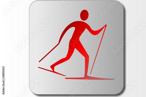 Elegant ski symbol for logos, banners or Icons.