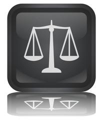 """Bouton """"Balance - Justice"""" (carré - brillant - vecteur - reflet)"""