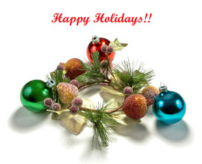 Christmas decoration and greeting