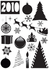 Christmas, New Year's set. vector