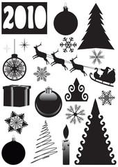 Christmas, New Year's set. vector