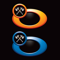 crossed axes colored rings