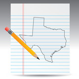 texas state drawing poster