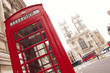 Phone booth and Westminster Abbey
