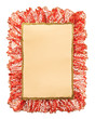 Christmas paper ribbon background