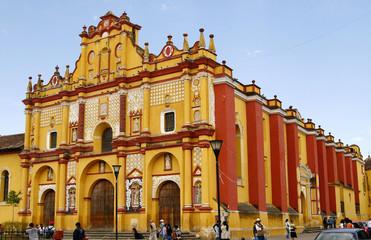 Santo Domingo cathedral in San Cristobal de las Casas, Mexico