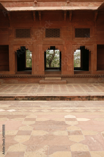 Yard of an abandoned temple in Fatehpur Sikri, India
