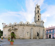 Colonial church in Old Havana plaza
